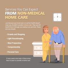 Services You Can Expect from Non-Medical Home Care   #Services #HomeCare