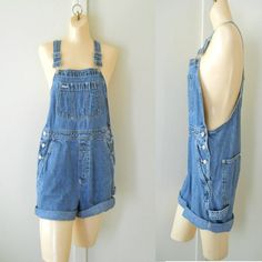 Women Overalls Denim Overall Shorts Women by TheVilleVintage, $54.99