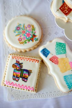 mexican embroidery cookies - Buscar con Google