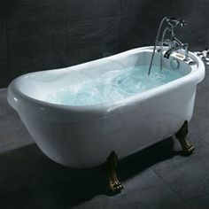 ariel clawfoot antique whirlpool jacuzzi bath tub soaking tub