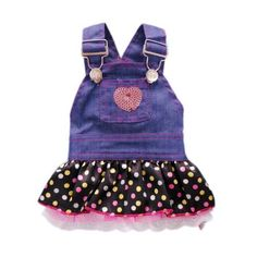 Petparty Sweet Heart Sequins Denim Dog Dress for Dog Shirt Fashion Dog Clothes Pet Dress,S -- Details can be found by clicking on the image.