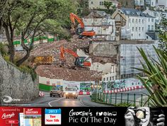 The changing face of our island. Demolition well under way at the old Guernsey Brewery, South Esplanade #LoveGuernsey   http://chrisgeorgephotography.dphoto.com/#/album/cbc2cr/photo/19656219  Perrys Guide Ref: Page 3 K11 Picture Ref: 05_11_13  Flash back to November 2012: http://chrisgeorgephotography.dphoto.com/#/album/cbc2cr/photo/12021825 — at St. Peter Port, Guernsey.