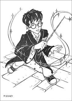 harry potter with magic stick coloring page if you like this harry potter with magic stick coloring page share it with your friends they will love