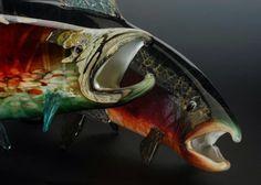 Andy Nichols - Nichols Art Glass. Blown, life size fish.