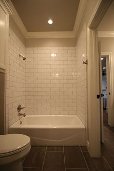 N Subway Tile Surround Molding And Lighting