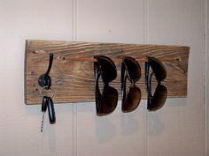 Reclaimed Wood Sunglasses and Keys Holder by RusticWoodOriginals, $35.00