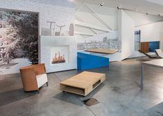 OMA installation for Maarten van Severen furniture collection launch