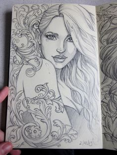 Moleskine 3 sketch by ~Sabinerich on deviantART