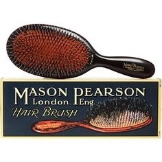 Mason Pearson Popular Mixture Brush. I LOVE this brush. Expensive but will last a lifetime & will not damage your hair.