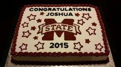 Mississippi State graduation cake