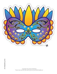Free Mardi Gras Carnivale Masquerade Printable Masks #free #printable
