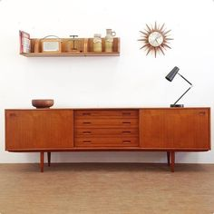 Here's a throwback from a Clausen & Son Danish Credenza we sold at a show Tv Credenza, Sideboard, Danish Furniture, Vintage Furniture, Danish Living Room, Mid Century Credenza, Danish Style, Console Tables, Scandinavian Interior