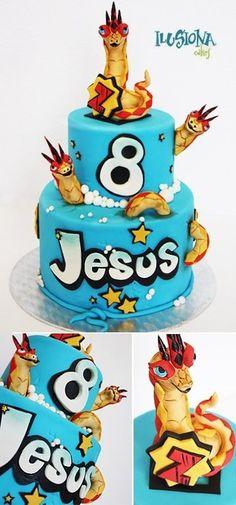Invizimals´s Cake  Cake by ilusionacakes