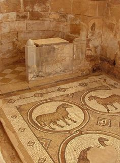 Mosaic of the Seasons, from Petra's Byzantine church dating from the 5th and 6th centuries CE.