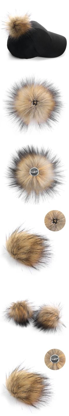 1PC Unisex Women Men Faux Raccoon Fake Fur Hair Ball Fluffy Pompom Hat Clothing Bag Shoes Cap Accessories Decoration