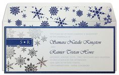 Silver Snowflakes #Wedding #Invitation