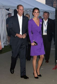 Royal Visit 2011: Kate Middleton in Issa and Prada pumps. Photo by Keystone Press.