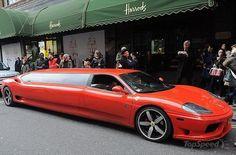 ferrari 360 modena limousine - the perfect ride for santa picture