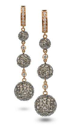 winter inspired jewelry idea - elegant - LeVian vintage earrings