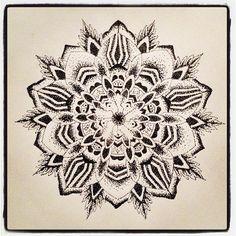 Mandala Designs, corinnemartintattoo: Dotwork mandala - fineliner...