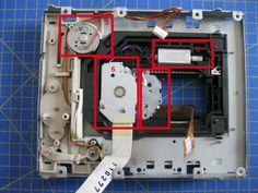 Proyectos DIY para reciclar un lector de CD/DVD - Ikkaro Hp Computers, Arduino Projects, Usb, Disco Duro, Crafts, Laser Cutting, Robots, Berry, Tech