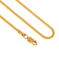 Foxtail design #22caratgoldchain in a jewelry style suitable for men and women. The slim chain secures with a lobster clasp closure and complements gold pendants with a 1.5 mm opening or larger.   - See more at: https://www.rajjewels.com/22-k-yellow-gold-unisex-fox-chain-24-inch-1-mm-gc17844.html#sthash.1E7GJdf9.dpuf