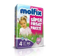 Molfix 7/24 Maxi Plus 4+ Numara 90 Adet Koruma Süper Fırsat Paketi Bebek Bezi  Molfix 7/24 Süper Fırsat Paketleri, bebeklere ve annelere aradıkları üstün korumayı ve rahatlığı vermek için geliştirilmiştir.  Bebekler 7 gün 24 saat bebek bezi kullanırlar ve anneler ise bebeklerinin güvenliği ve sağlığından emin olmak isterler. Tüm bunlar düşünülerek gelitrilern Molfix 7/24 Süper Fırsat Paketi Bebek Bezleri bebeğinizin daha uzun süreli huzurlu kalmasını sağlar.. #Molfix #Bebekbezi #Bebek