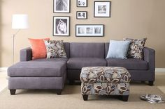 Shop for Anthony Charcoal Sectional Sofa Set. Get free delivery On EVERYTHING* Overstock - Your Online Furniture Shop! Get in rewards with Club O! My Living Room, Home And Living, Small Living, Living Area, Cozy Living, Sofa Design, Interior Design, Interior Paint, Lamp Design