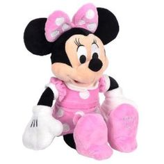 10 Inch Pink Minnie Mouse Plush Doll - Minnie Mouse Stuffed Toy ** Want additional info? Click on the image. (This is an affiliate link) #StuffedAnimalsTeddyBears