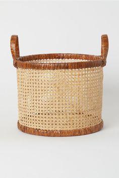 Rattan Basket - Light beige - Home All Rattan Basket, Wicker, Rattan Planters, Bamboo Basket, Plant Basket, Villa Mallorca, Home Decor Accessories, Decorative Accessories, Decorative Storage