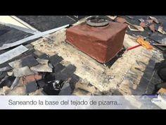 Reparación de tejado de pizarra en Alpedrete (chimenea) Fire Places, Slate Roof
