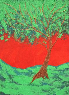 """Twilight Woods #460 (ARTIST TRADING CARDS) 2.5"""" x 3.5"""" by Mike Kraus- aceo atc christmas xmas hanukkah chankah kwanzaa eid trees forests fun"""