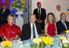 Noblesse et Royautés:  Royals attended the European Organisation for Research and Treatment of Cancer (EORTC) Charitable Trust dinner at the Yacht Club in Monaco-Princess Astrid of Belgium, Honorary President of the EORTC Charitable Trust Prince Albert of Monaco, Princess Sibilla of Luxembourg, Archduke Lorenz of Austria-Este