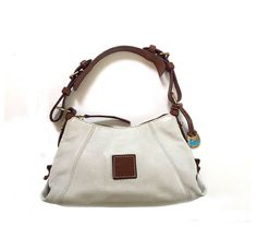 Authentic Dooney & Bourke White Pebbled All Weather Leather