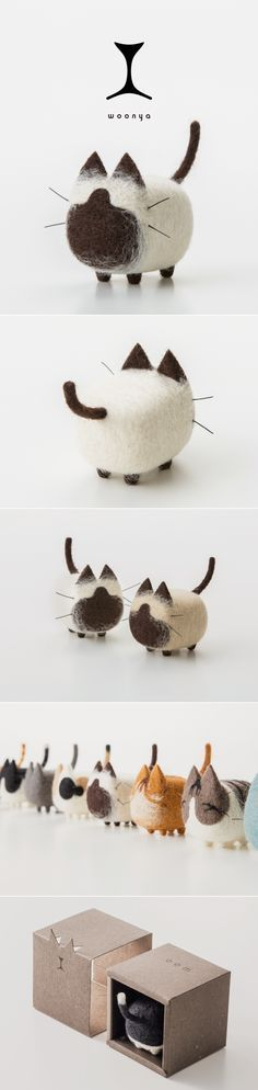 woonya/ 猫/cat/羊毛フェルト/Needle/Felting/mascot/doll/home/style/products/art/design