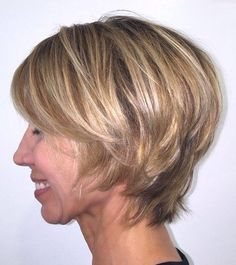 short layered hairstyle for mature women                                                                                                                                                                                 More