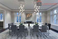 Dining room - Montreal residence Lakeshore Construction Designer: Gestion René Desjardins