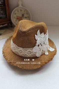 Hollow straw hat summer hat women Korean hat beach hat