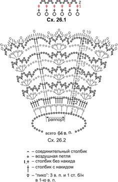 схема узора вязания крючком