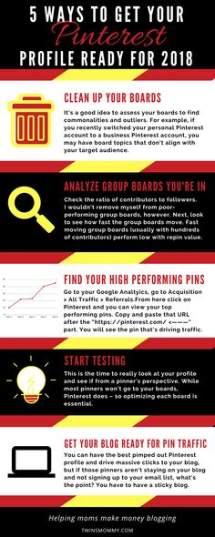 Ready for blog traffic in 2018? The best Pinterest tips can help you get your blog and Pinterest profile ready for blog traffic. If you're new to Pinterest or want to optimize your Pinterest marketing strategy, check out this post of top ways you can get your Pinterest account ready for 2018 | Pinterest tips | Pinterest marketing tips #pinterestmarketing #pinteresttips
