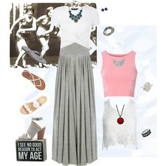 I see no good reason to act my age. grey, pink, blue, white, red, black by my-genealogy on Polyvore featuring polyvore, moda, style, Sans Souci, Glamorous, New Look, Jack Rogers, Joe's Jeans, Billabong, Havaianas, Marlin Birna, Kenneth Cole, NOVICA, BCBGMAXAZRIA, Liz Claiborne, Erica Lyons, Bling Jewelry, Primitives By Kathy, fashion and clothing