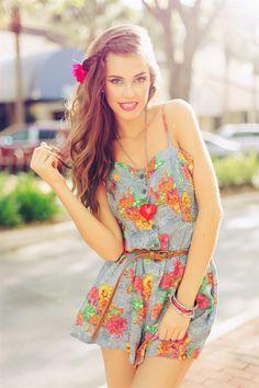 Floral Romper #EllaBellaBee9