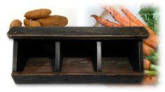 Reclaimed 1920s Wood Vegetable Bin Rustic by AlleyCatDesignSt
