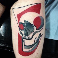 #tattoofriday - Mike Boyd (Londres) e suas tattoos cubistas, futurísticas e coloridíssimas;