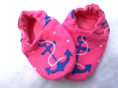 Baby Girl Shoes Booties -  Anchors Nautical on Etsy, $12.00