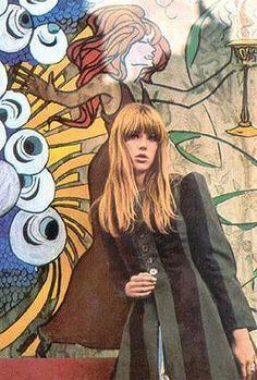 Chrissie Shrimpton, 1960s.