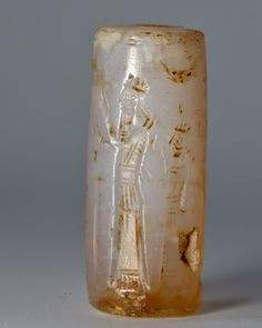 * A Neo-Assyrian Chalcedony Cylinder Seal, ca. 8th - 7th century BC | Sands of Time Ancient Art