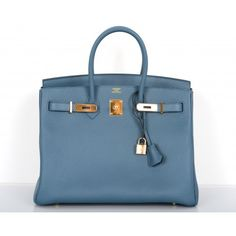 Hermès Blue Tempete Fjord 35cm Birkin Bag# porteropintowin