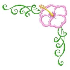 Get Our Latest Exclusive Free Samples Oregon, Free Machine Embroidery Designs, Free Samples, Hibiscus, Free Design, Applique, Patches, January 2016, Corner