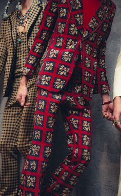 Backstage at Gucci